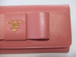 プラダリボン財布~カラーリング(ピンク)